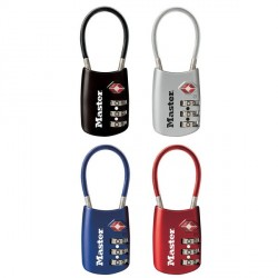 4688D TSA-Accepted Padlock - Set-Your-Own-Combination With Flexible Shackle