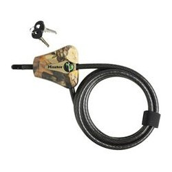 Master Lock 8418KADCAMO-TMB Camouflage Python Adjustable Cable Lock Keyed Alike in Sets of 4