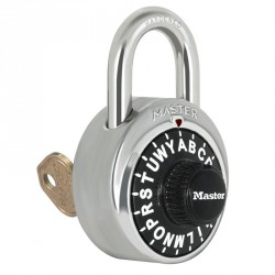 Master Lock 1585 Letter Lock Combination Padlock with Key Control
