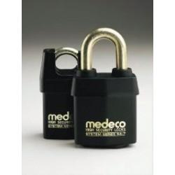 "54*715 Medeco No. 54 High Security Indoor/Outdoor Padlock with 7/16"" Shackle Diameter, Key-In-Knob Cylinder"