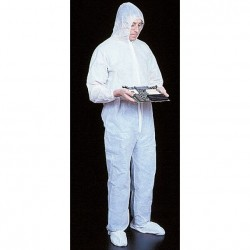 Mutual Industries 13905 Disposable Reusable Cleanroom Coverall Suit