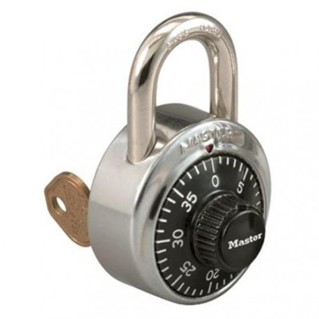 Master Lock 1525 Combination Padlock w/ Key Control