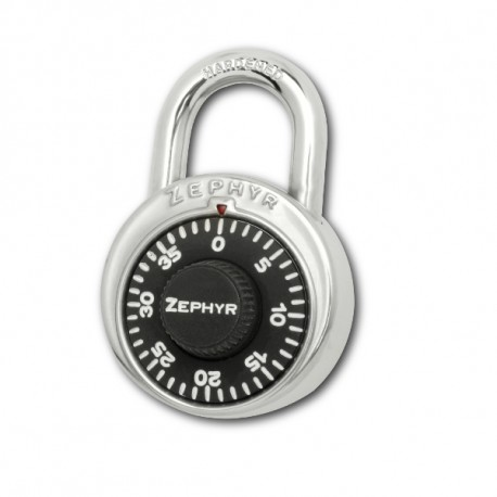 Zephyr 1902 Black Combination Padlock