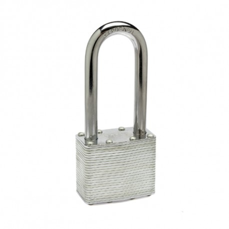 Zephyr 18050 Steel Lamanated Long Shackle Combo/Keyed Padlock