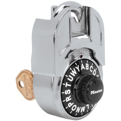 Master Lock 1594 Shrouded Letter Lock Combination Padlock with Key Control Feature
