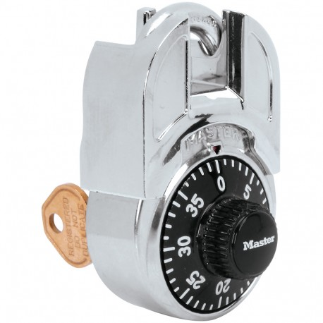Master Lock Shrouded Combination Padlock with Key Control Feature
