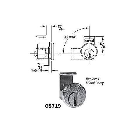 CompX C8719 Pin Tumbler Mail Box Lock