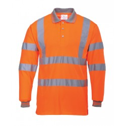 Portwest US277 Hi-Vis Polo Shirt Long Sleeved