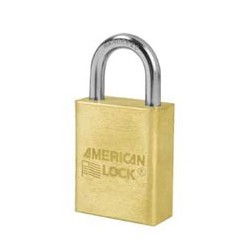 "A6530 American Lock Solid Brass Rekeyable Padlock 1-1/2"" (38mm)"