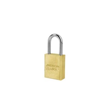 "A6531 American Lock  Solid Brass Rekeyable Padlock 1-1/2"" (38mm)"