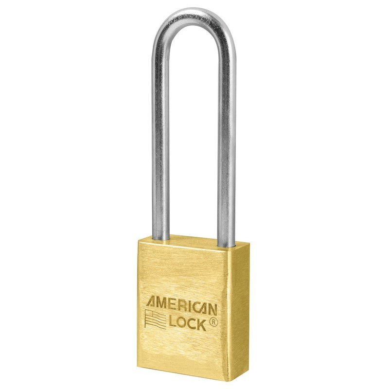 A42 American Lock Solid Brass Non Rekeyable Padlock