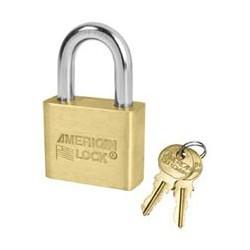 AL50 American Lock Solid Brass Rekeyable Padlocks - Blade Tumbler Cylinder