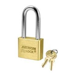 AL51 American Lock Solid Brass Rekeyable Padlocks - Blade Tumbler Cylinder