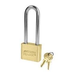 AL52 American Lock Solid Brass Rekeyable Padlocks - Blade Tumbler Cylinder