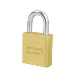 A20D American Lock Solid Brass Non-Rekeyable Padlock (Commercial Carded)