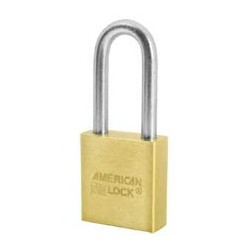 A21D American Lock Solid Brass Non-Rekeyable Padlock (Commercial Carded)
