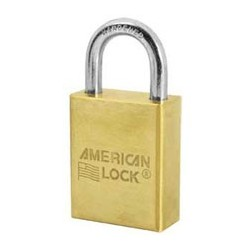 A40T American Lock Solid Brass Non-Rekeyable Padlock 2-Pack Keyed Alike (Commercial Carded)