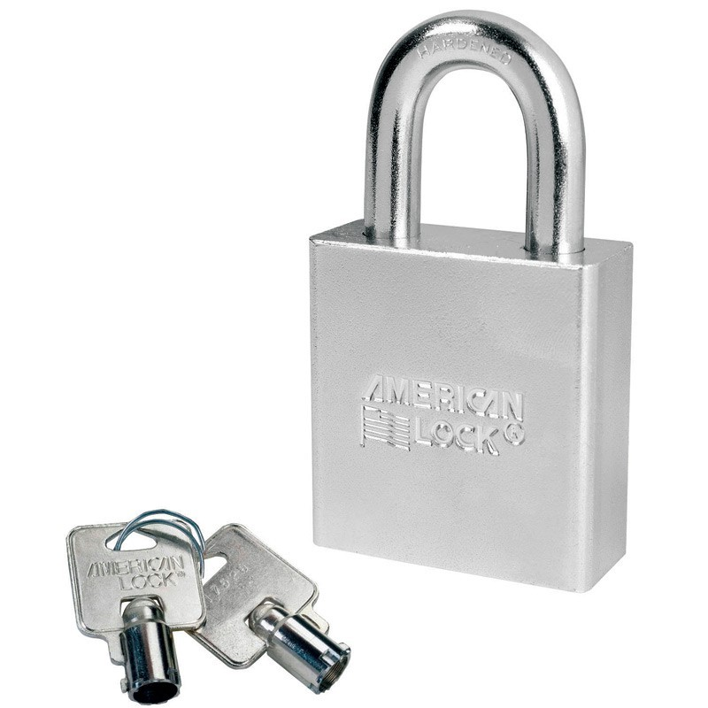 A7260 American Lock Solid Steel Rekeyable Padlock Tubular