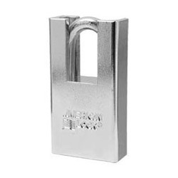 "A5300D American Lock Rekeyable Shrouded Solid Steel Padlock 1-3/4"" (44mm) (Commercial Carding)"