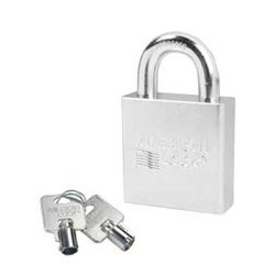A7300D American Lock Solid Steel Rekeyable Padlock Tubular Cylinder (Commercial Carded)