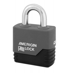 "A5260COV American Lock Weather Tough Solid Steel Rekeyable Padlock 2-1/2"" (64mm)"
