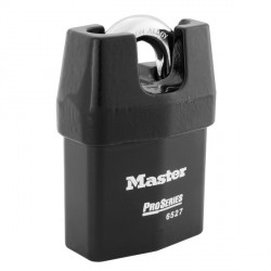 "Master Lock 6527 Pro Series Solid Iron Shrouded Interchangeable Core Padlock 2-5/8"" (67mm)"