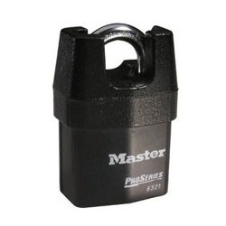 "Master Lock 6321 Solid Iron Shrouded High Security Pro Series Rekeyable Padlock 2-1/8"" (54mm)"