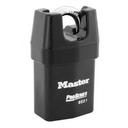 "Master Lock 6521 ProSeries Solid Iron Shrouded Interchangeable Core Padlock 2-1/8"" (54mm)"