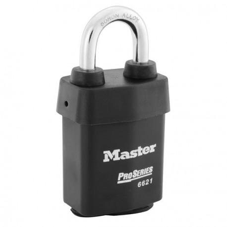 Master Lock 6621WCSCN NOKEY6 6621 Pro Series Key-in-Knob Padlock - Weather Tough