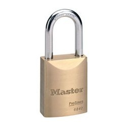 Master Lock 6842 Pro Series Key-in-Knob Door Key Solid Brass Padlock