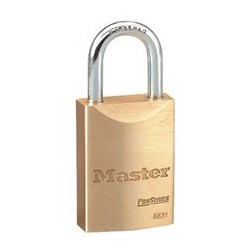 "Master Lock 6831 ProSeries - Solid Brass Interchangeable Core Padlock 1-9/16"" (40mm)"
