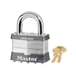"Master Lock 15, 15KA, Non-Rekeyable Laminated Steel Pin Tumbler Padlock 2-1/2"" (64mm)"