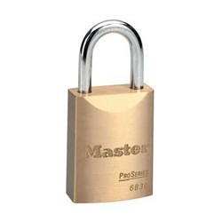 "Master Lock 6830 Solid Brass Pro Series Rekeyable Padlocks 1-9/16"" (40mm)"