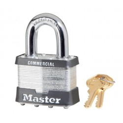 "Master Lock 17, 17KA, 17KD No. 17 Non-Rekeyable Laminated Steel Pin Tumbler Padlock 2"" (51mm)"
