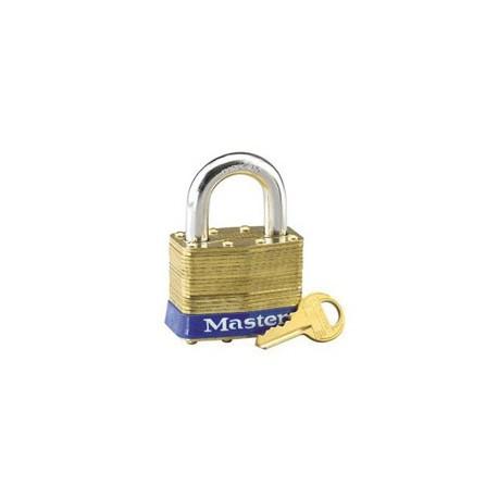 """Master Lock 6, 6ka, Non-Rekeyable Laminated Brass Pin Tumbler Padlock 2"""" (51mm)"""