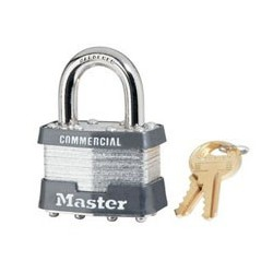 "Master Lock 81, 81KA, 81KD, No. 81 Non-Rekeyable Laminated Steel Pin Tumbler Padlock 1-3/4"" (44mm)"