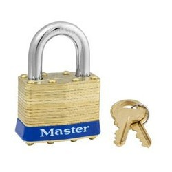 "Master Lock 2, 2ka, Non-Rekeyable Laminated Brass Pin Tumbler Padlock 1-3/4"" (44mm)"