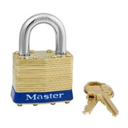 "Master Lock 82, 82ka, Non-Rekeyable Laminated Brass Pin Tumbler Padlock 1-3/4"" (44mm)"