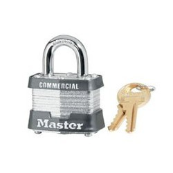 "Master Lock 31, 31KA, 31KD No. 31 Non-Rekeyable Laminated Steel Pin Tumbler Padlock 1-9/16"" (40mm)"