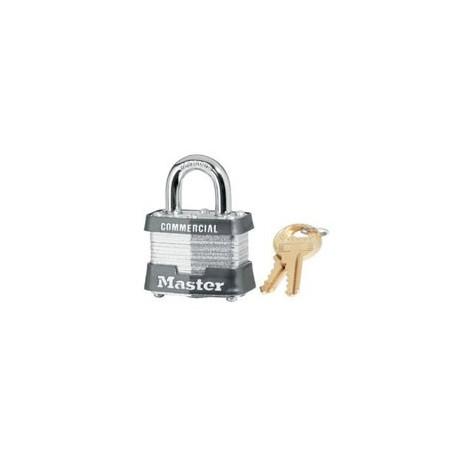 "Master Lock 31, 31KA, 31KD No. 31 Non-Rekeyable Laminated Steel Pin Tumbler Padlock 1-9/16"" (40mm)"