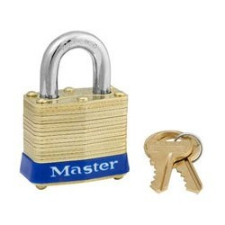 "Master Lock 4, 4ka, Non-Rekeyable Laminated Brass Pin Tumbler Padlock 1-9/16"" (40mm)"
