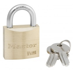 "Master Lock 4130 Economy Brass Series Padlock 1-1/8"" (29mm)"