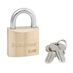 "Master Lock 4130KA Keyed Alike Economy Brass Series Padlock 1-1/8"" (29mm)"