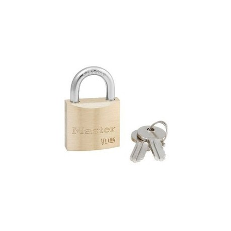 Master Lock 4130KA Keyed Alike Economy Brass Series Padlock 1-1/8