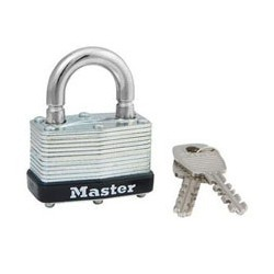 Master Lock 500KABRK Keyed Alike Warded Breakaway Shackle Padlock