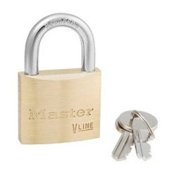 "Master Lock 4140KA Keyed Alike Economy Brass Series Padlock 1-1/2"" (38mm)"
