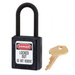 Master Lock 406 Zenex OSHA Safety Lockout Plastic Shackle Padlock