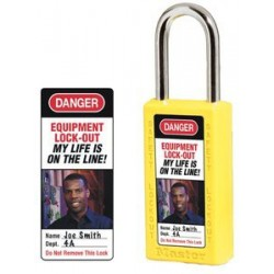 Master Lock 0411-5705 Padlock Photo Labels for 411 Safety Padlocks