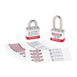Master Lock 461 Padlock Labels for the 3, 6835, 6836, and A1100 Series (Bag of 50)