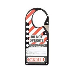 Master Lock 427BLK Labeled Snap-on OSHA Safety Lockout Hasp (Black)